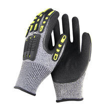 Cut Resistant Gloves Anti Impact Vibration Oil TPR GMG Safety Work Gloves Anti Cut Proof Shock Mechanics Impact Resistant