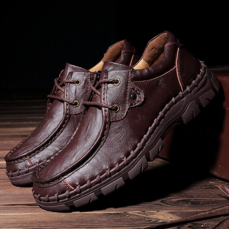 Negócios Formais Sapatos 100% Couro De Vaca Sapatos Casuais Homens Mocassins Deslizar Sobre Mocassins Moda sapatos de Ferramentas Ao Ar Livre de Inverno tamanho 48