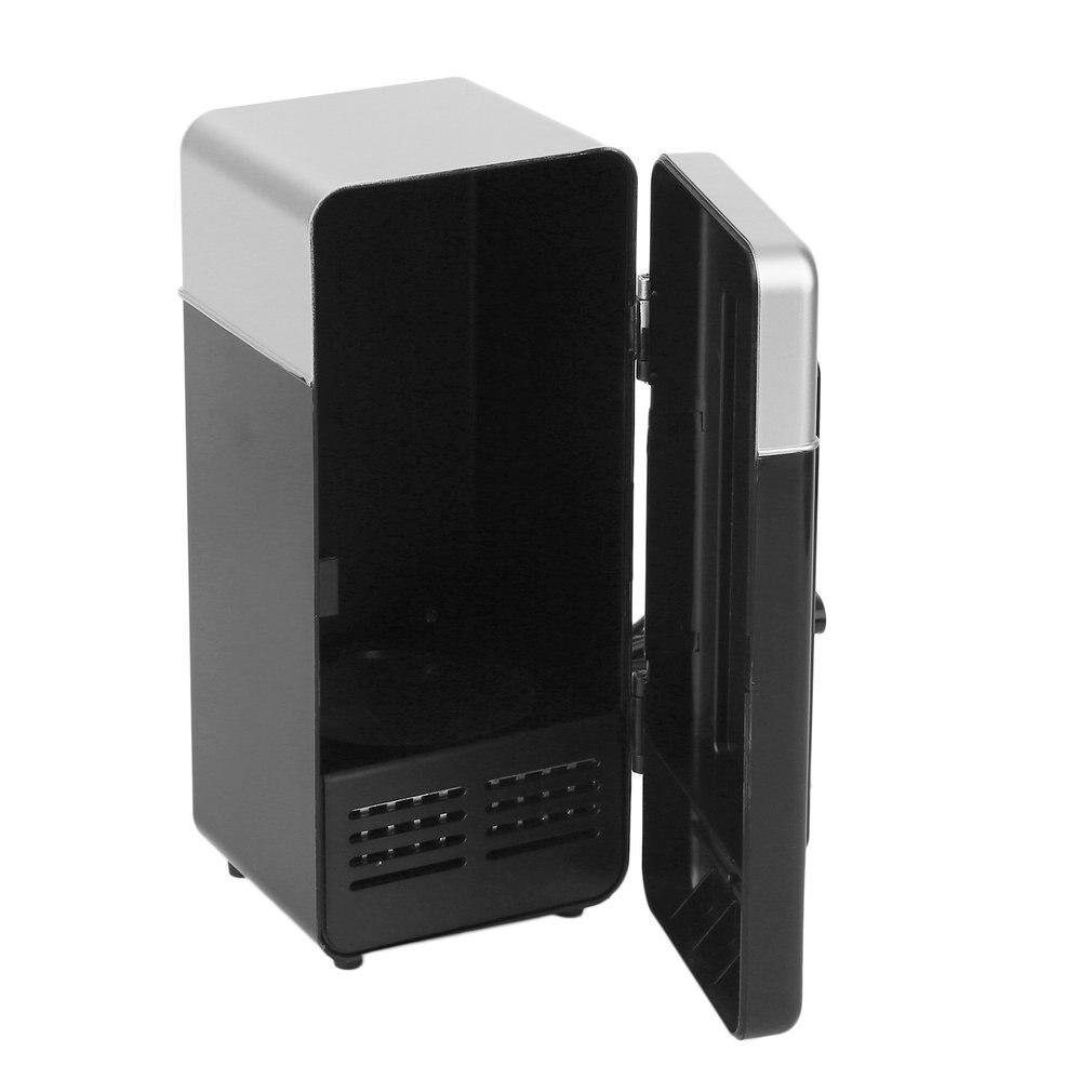 2018 nuevo negro ABS 5V 10W USB 19,4*9*9 cm coche Mini refrigerador coche enfriador de bebidas portátil bote viaje nevera cosmética de alta calidad