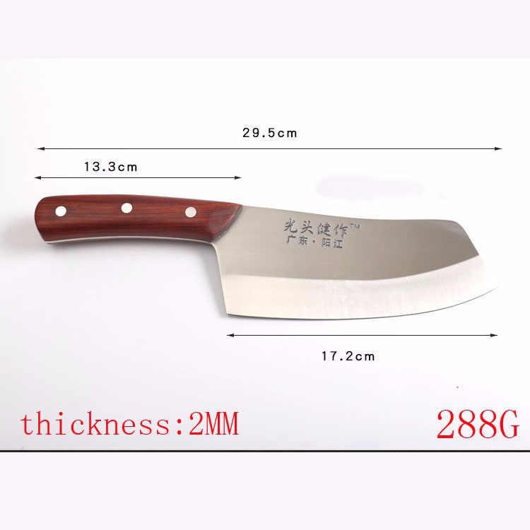 Cutelo de cozinha com cabo de madeira, faca de chef de cozinha japonês, para frutas, vegetais, açougueiro, facas chinesas de alto carbono