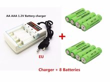 2019 New Tag 3000 MAH rechargeable battery AA 1.5 V. Rechargeable New Alcalinas drummey +1pcs 4-cell battery charger(China)