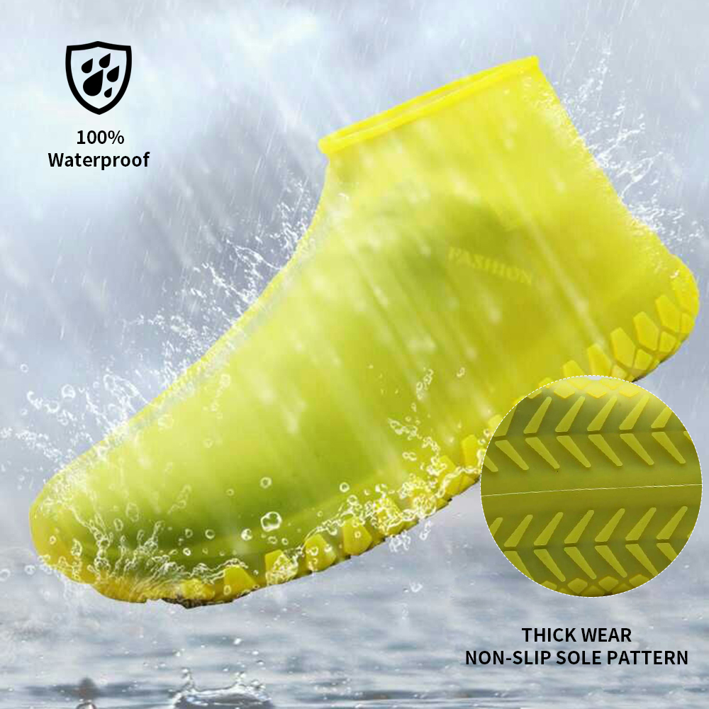 Waterproof Rain Shoe Covers Reusable Slip-resistant Silicone Shoe Covers Choose 25-45 Yard 2020