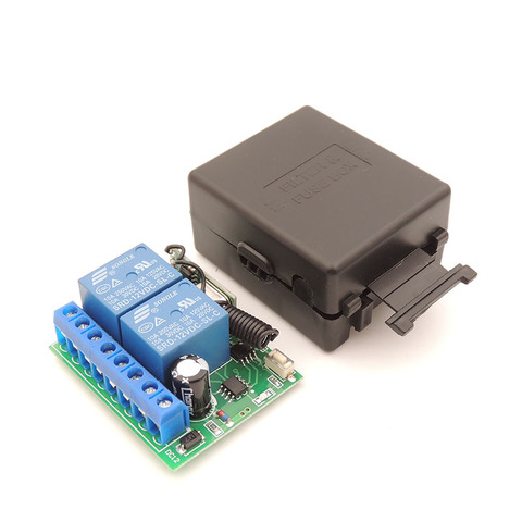 433MHz Universal Wireless Remote Control Switch 12V 10A  2CH rf Relay Receiver Wide range for Garage /Door/ Motor Controller Lahore