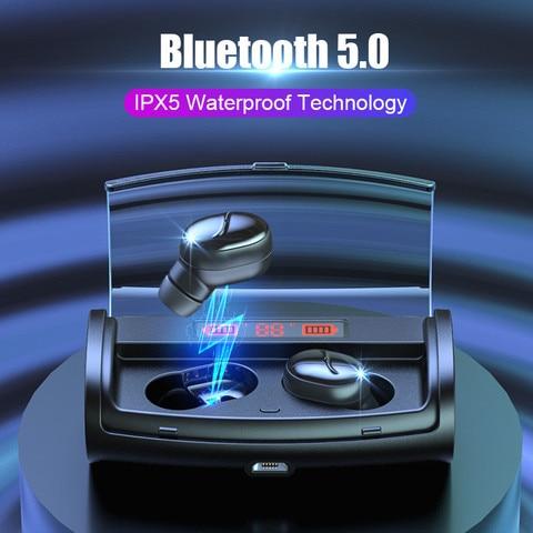 Wireless Bluetooth Earphone TWS Wireless Earphones LED Power Display Bluetooth V5.0 Waterproof Headphones 2600mAh Charging Box Pakistan