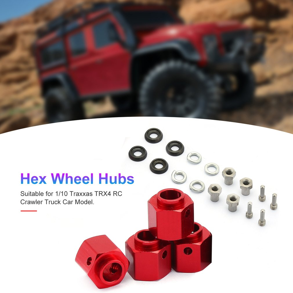 Car Widen Adapter Widening Set 6-12MM For 1/10 TRAXXAS TRX-4 TRX4 RC Trucks Wheels Upgrate Parts Accessories