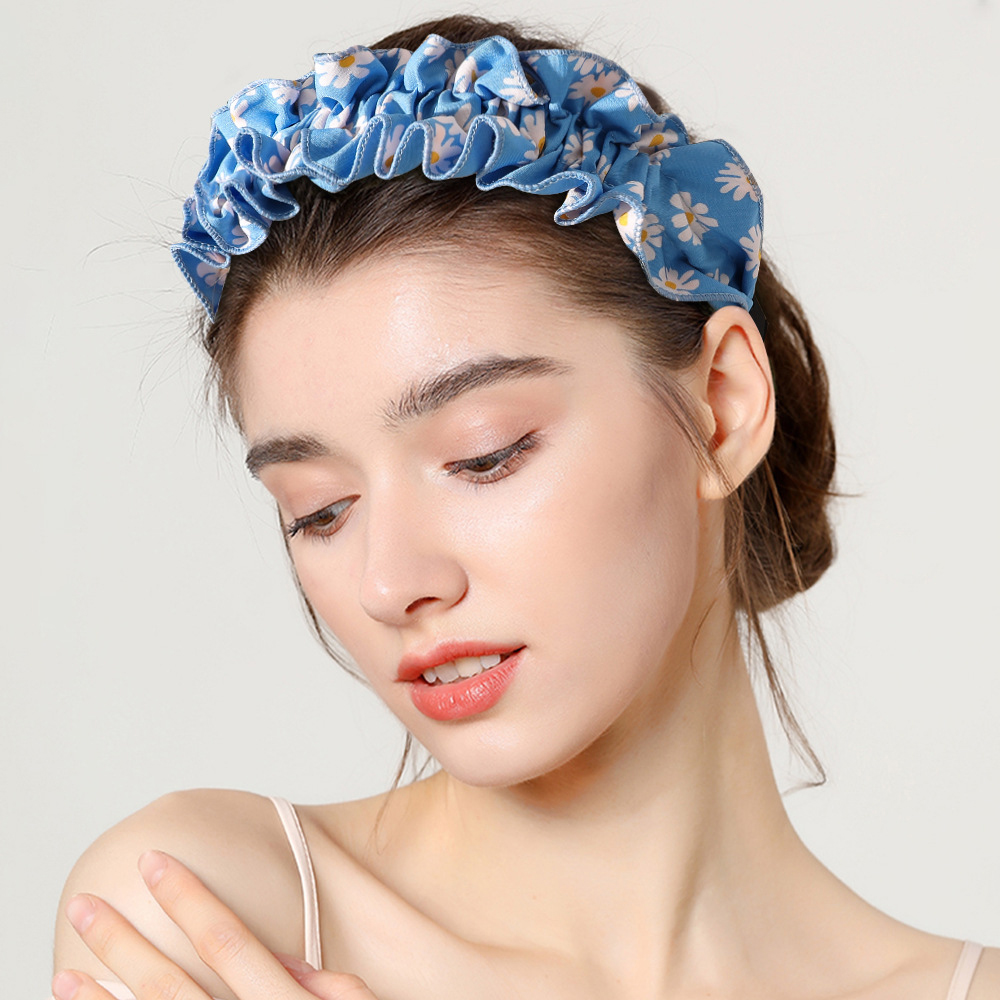 2020 New Luxury Big Sunflower Hair Hoops Girls Headband Korean Hair Band Sunflowers Hoop Ethnic Style Hairband Women Headwear