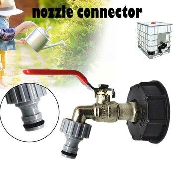 IBC Tote Tank To 1/2 pulgadas manguera para tanque de agua conector grifo tanque adaptador yarda jardín herramientas manguera conector para grifo conector de repuesto