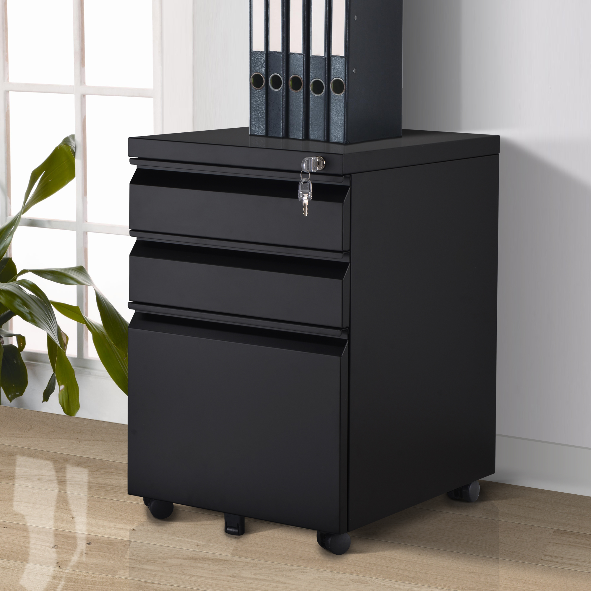 Classic Featured High Quality Steel Modern File Cabinets Large Space Home Furniture L39*D48*H60cm Office Filing Cabinet