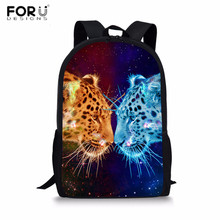 FORUDESIGNS Newest Backpack Cool Contrasting colors Animal Printing School Backpacks Teenagers Girls Rucksack for Children bags forudesigns fashion men backpacks cool 3d animal tiger printing school backpack for teenage boys children mochila rucksack man