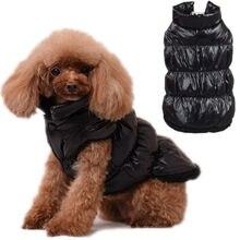 Теплая одежда для собак зимнее пальто домашних животных водонепроницаемая