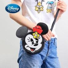 Bolso de pecho de Mickey Mouse de Disney para mujer, bolso de pecho de dibujo animado de Donald Duck, bandolera de PU para chica, bolso de hombro tipo bandolera para teléfono móvil