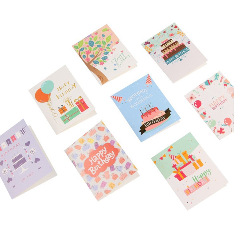 96 Cards Envelopes Color No Envelope New Year Greeting Card Message Card Gift Card