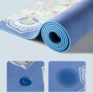 Image 5 - 183*68cm TPE Suded Yoga Mat 6mm Gym Sports Fitness Exercise Pads Body Aligning Yoga Mat With Position Line Non slip Pilates Mat