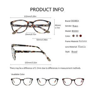 Image 4 - Glasses Round Acetate Glasses Myopia Eyeglasses Women Frame Clear Lens Frame Optical Demi Glasses Frames Women Circle Eyewear