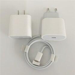 10 pçs/lote original de alta qualidade 20w carregamento rápido pd carregador cabo usb c ue eua adaptador energia viagem