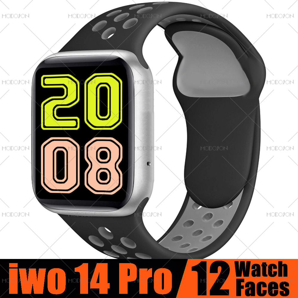 MODOSON Smart Watch iwo 14 Pro Series 5 Bluetooth Call ECG Heart Rate Fitness Tracker Smartwatch