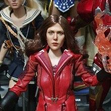 1/6 skala Elizabeth Olsen Scarlet Witch szef Sculpt kobieta głowa rzeźba dla 12 cali DIY figurki