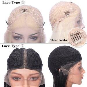 Image 4 - SNOILITE breve ombre bob u parte parrucca anteriore del merletto Sintetico di trasporto del merletto parte 12.5*3 parte anteriore del merletto parrucca Bob parrucche di capelli ondulati per le donne