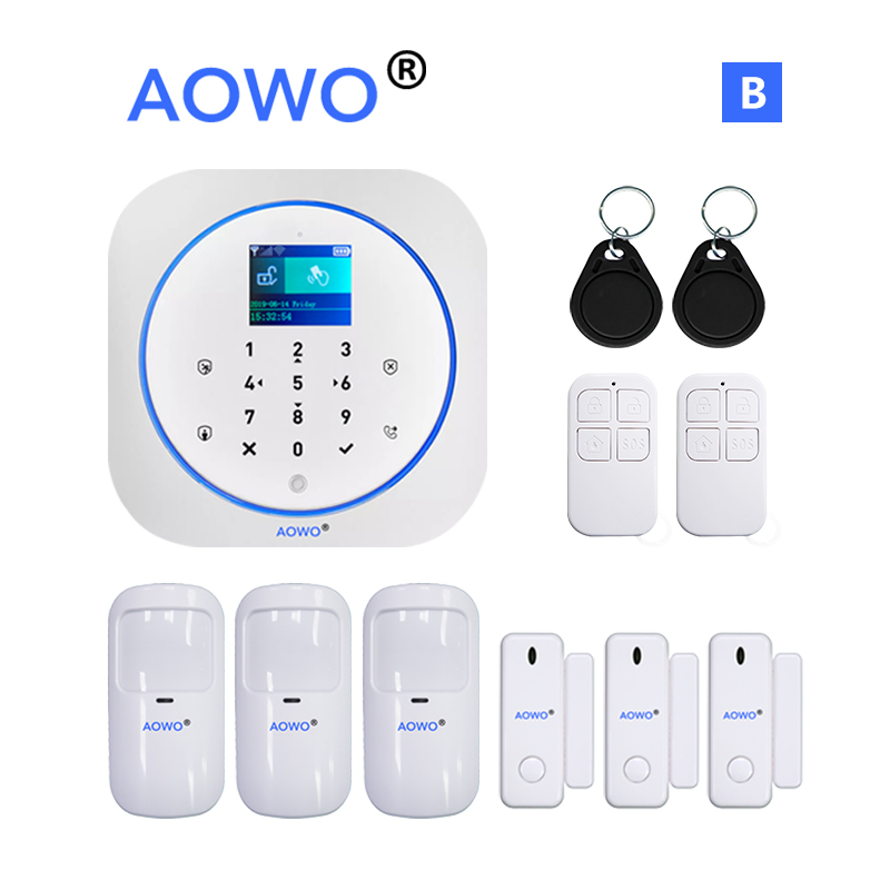 Tuya WiFi GSM Alarm Wireless House Security System With APP Google Home Alexa Voice Control IP Camera Monitoring RFID LCD Touch