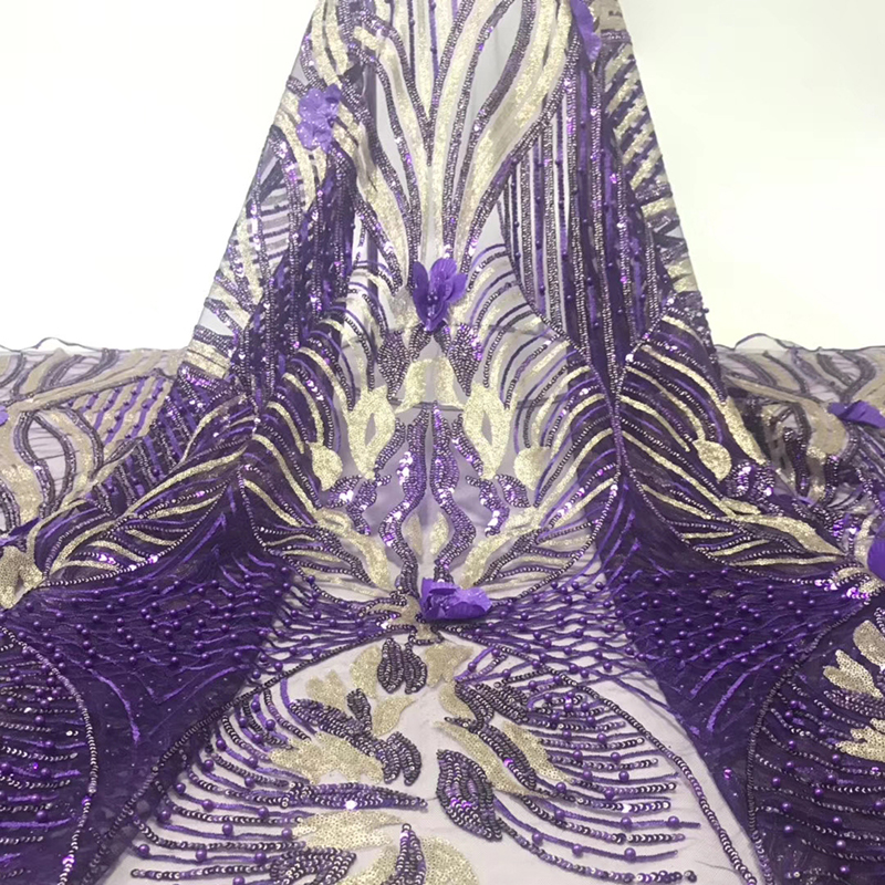 Latest Lace Material High Quality French Net African Lace Fabric With Nigerian Wedding African Lace Y599