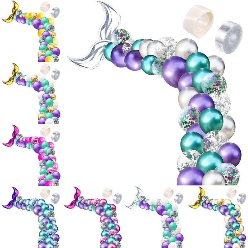 42Pcs Mermaid Balloon Arch…