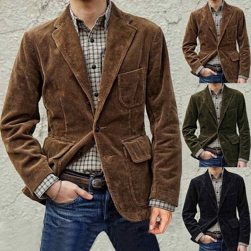 French Solid Pattern Smart Blazer Office Casual Grey Men Jacket M L