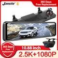 Jansite 10,88 дюймов Автомобильное зеркало заднего вида видео регистратор видеорегистратор 2,5 K Автомобильный видеорегистратор камера 1080P задний...