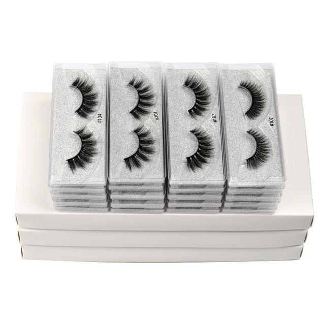 10 pairs faux mink eyelashes bulk wholesale natural long false eyelash extension 3d lashes eye fluffy soft fake cilios makeup 5