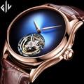 Новинка 2020 GUANQIN Tourbillon Мужские часы Топ бренд класса люкс Скелет Мужские сапфировые механические часы Relogio Masculino