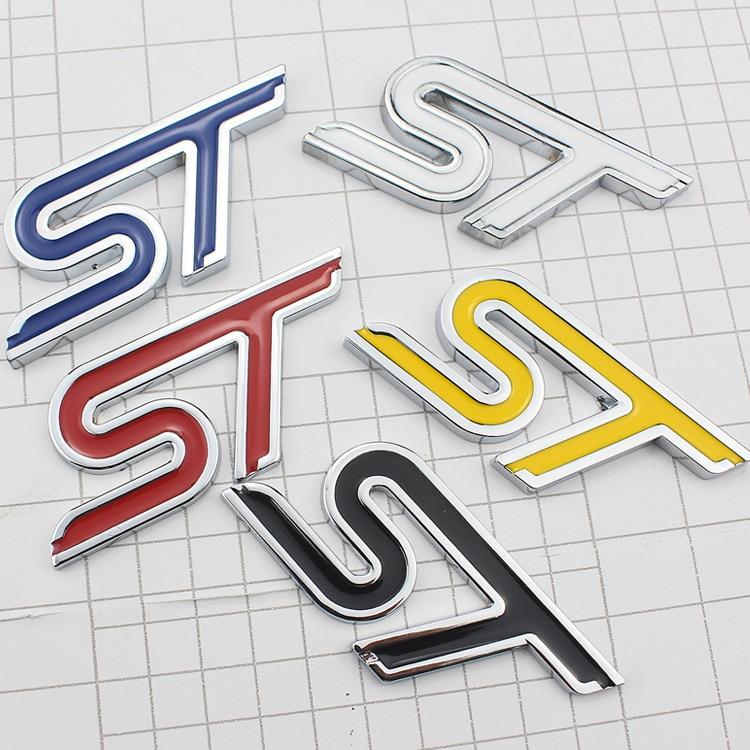 Высокое качество металла EcoBoost ST Линия Логотип ST Автомобильная наклейка с эмблемой для 2009 - 2019 Форд Фокус 2 3 fiesta ranger, fusion аксессуары