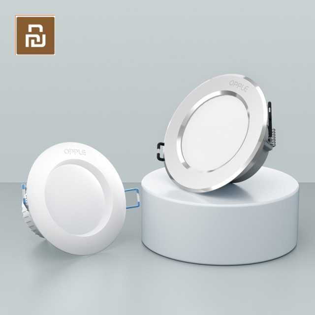 Youpini OPPLE LED Downlight 3W 120 Degree Round Recessed Lamp Warm/Cool White Led Bulb Bedroom Kitchen Indoor LED Spot Lighting