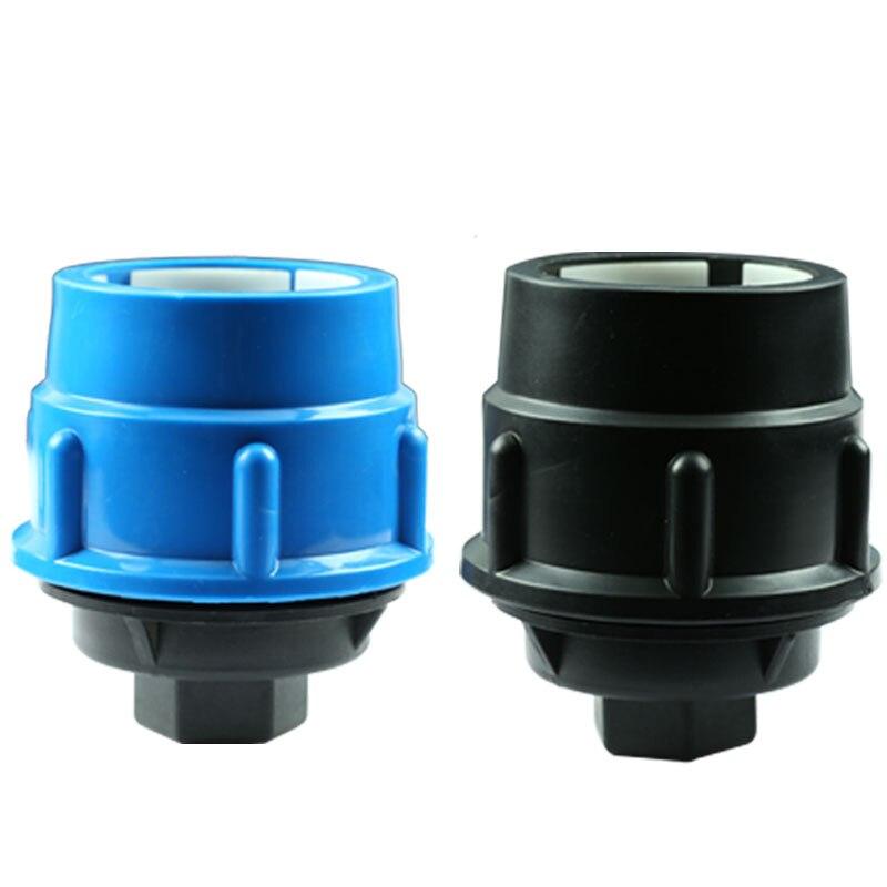 Polipropileno PP Negro tubería de agua tapa de montaje roscado hembra