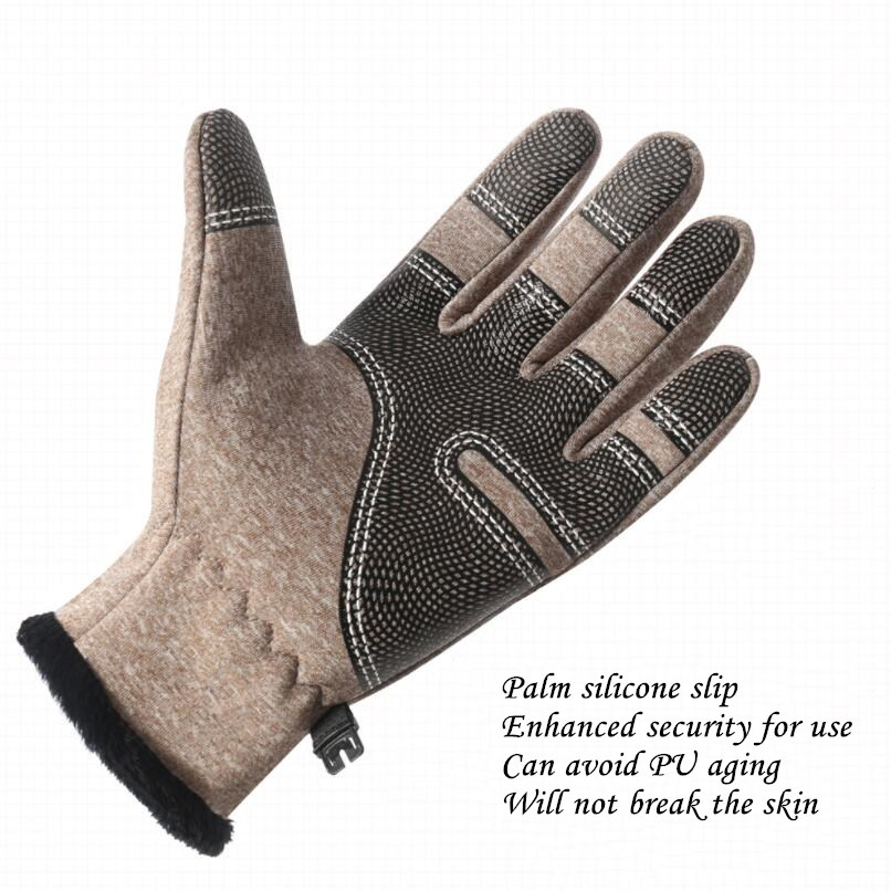 CUHAKCI Waterproof and Windproof Touch Screen Gloves for Men and Women Suitable for Operating All Touch Screen Devices during Winter 15