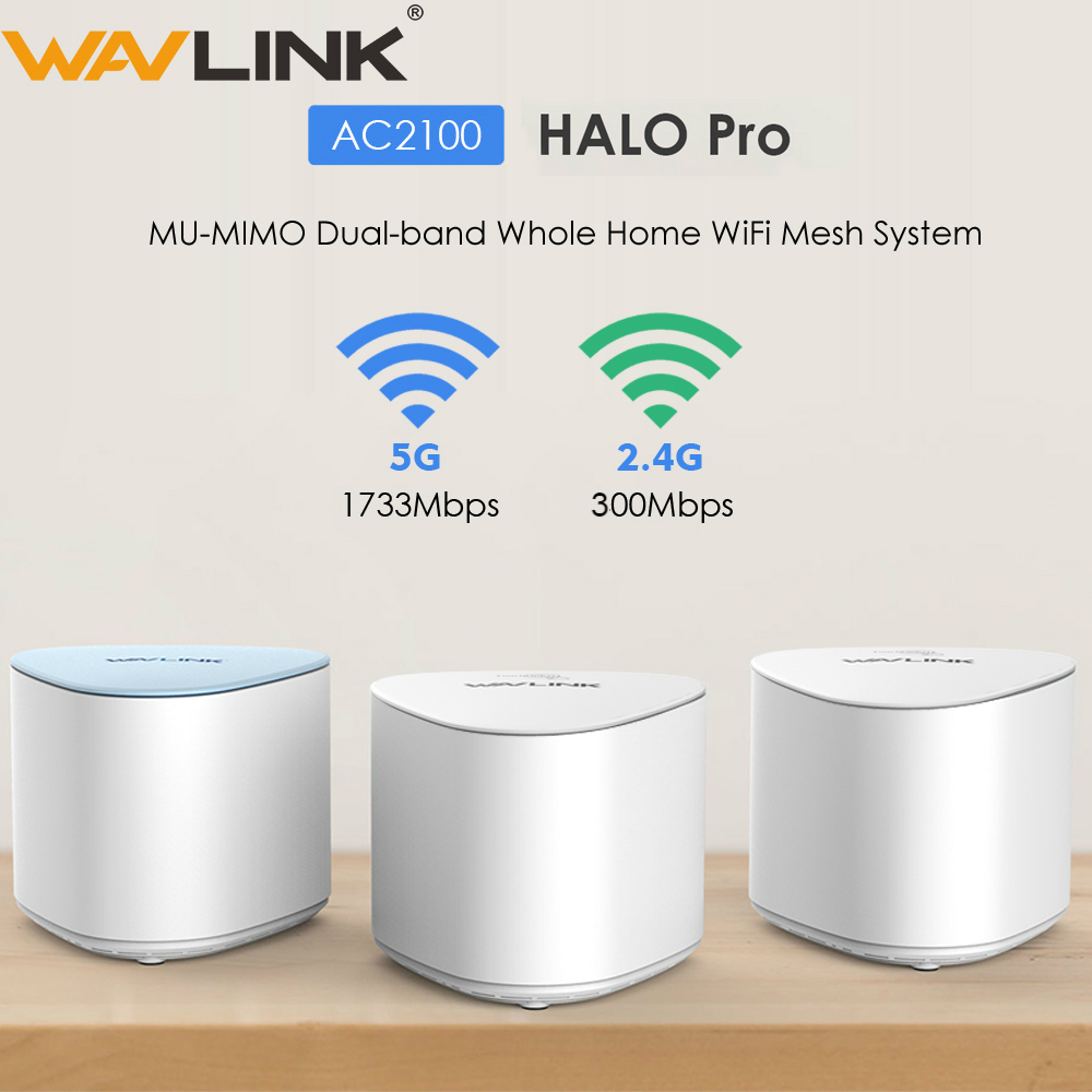 Wavlink AC2100 Wireless Wifi Router Whole Home WiFi Mesh System MU-MIMO Gigabit Wifi Repeater Dual-band 2.4G&5Ghz With Touchlink
