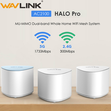Wavlink AC2100 Wireless Wifi Router Whole Home WiFi Mesh System MU-MIMO Gigabit wifi Repeater Dual-band 2.4G&5Ghz with Touchlink asus rt ac88u ac3100 dual band gigabit wifi 802 11ac mu mimo 2 4ghz 5ghz 8ports gigabit ethernet black red 3g 4g router