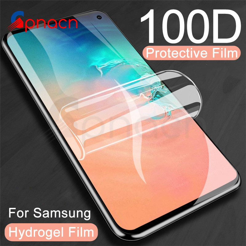 100D Full Cover Screen Protector Film For Samsung Galaxy S10 S9 S8 Plus S10e A6 A8 2018 S7 Edge Soft Protective Film Not Glass