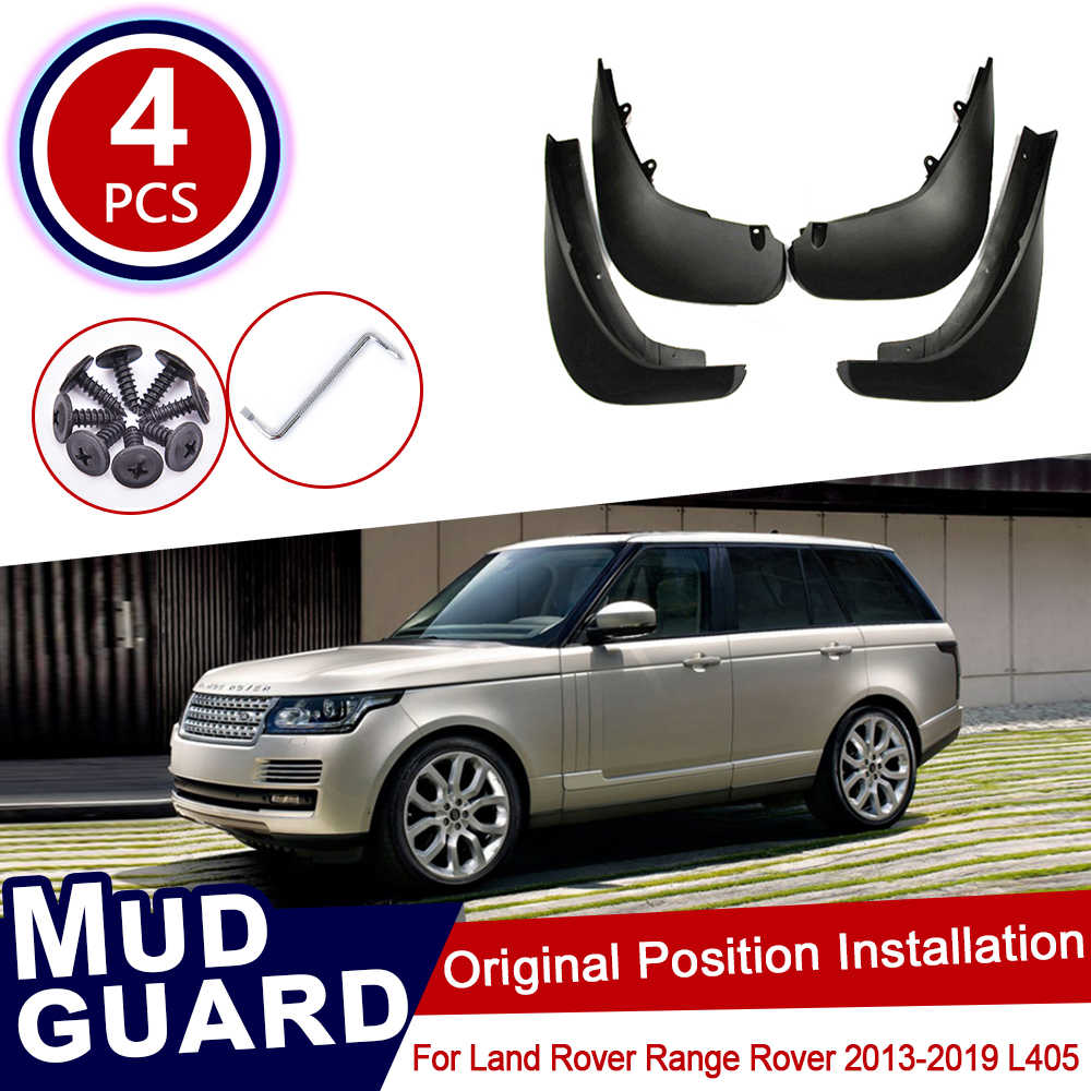 4pcs Mud Flap Mud Guard Splash Guard Fender Mudguard for Land Rover Range Rover Sport 2014 2015 2016 2017 2018 2019