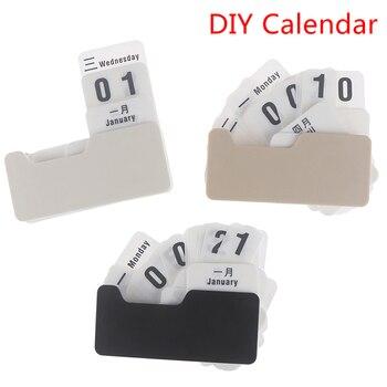 Perpetual Calendar Diy Flip Calendar Crafts Home Office School Desk Decoration 1