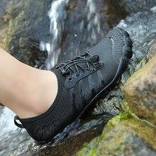 Homens de Natação Do Aqua Sapatos de Água Mulheres Cinco Toe Sneakers Barefoot Sandálias Para Crianças Sapatos De Praia Para Caminhadas Secagem rápida Respirável Calçado