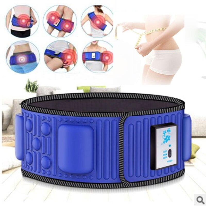 Электрический стимулятор брюшного пресса, вибрирующий для похудения, пояс для мышц живота, тренажер для талии, массажер X5 раз для похудения,...