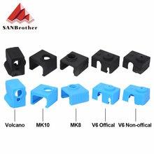 Защитный силиконовый чехол для 3d принтера v5/v6 volcano изоляционный