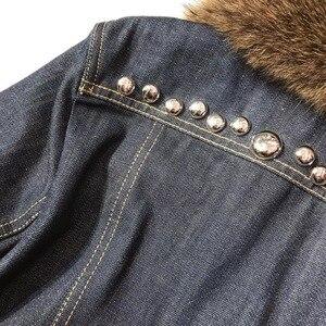 Image 5 - L160 collo in Visone giacca di jeans rivetto industria pesante di inverno versione più alto