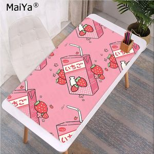 Image 3 - Maiya Fashion Kawaii Japanese Strawberry Milk Rubber Mouse Durable Desktop Mousepad Rubber PC Computer Gaming mousepad