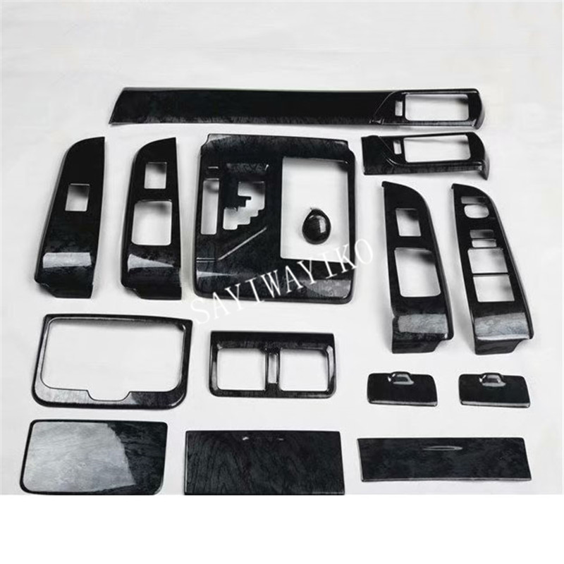 15pcs/set ABS Black Wood Decoration Cover For Toyota Camry 2012 2013 2014 2015 2016 2017 LHD Car Accessories