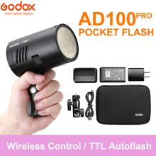 Godox AD100Pro 100Ws TTL 2.4G HSS 1/8000s Pocket Flash Light with 7.2V/2600mAh Lithium Battery 360 Full Power Flashes 0.01 1.5s