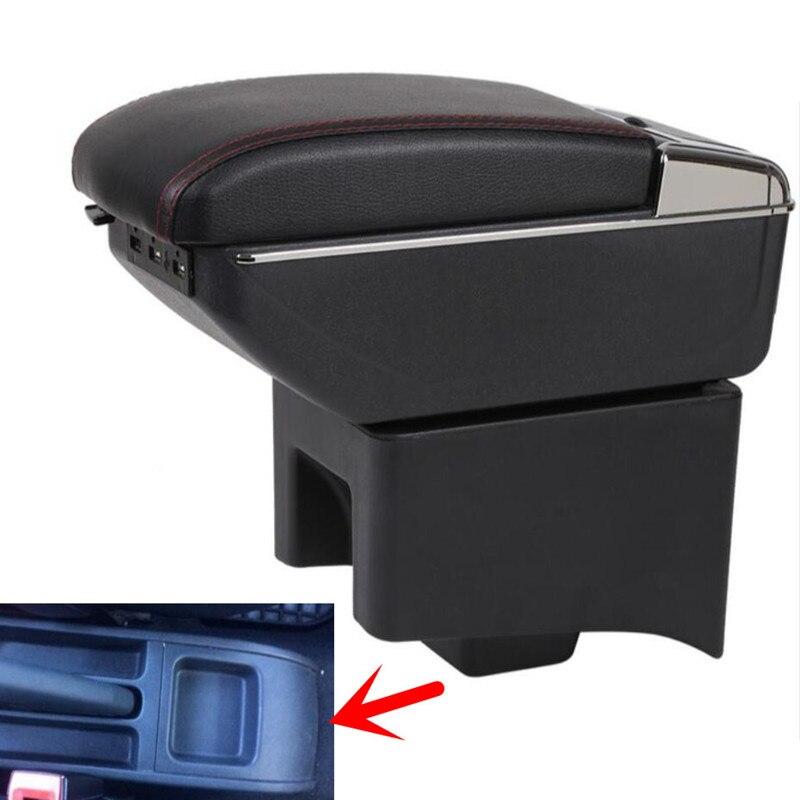 Для Volkswagen Polo подлокотник коробка поло V Универсальный 2009 2020 Автомобиль Центральной Консоли модификации аксессуары двойной поднятый с USB Подлокотники      АлиЭкспресс