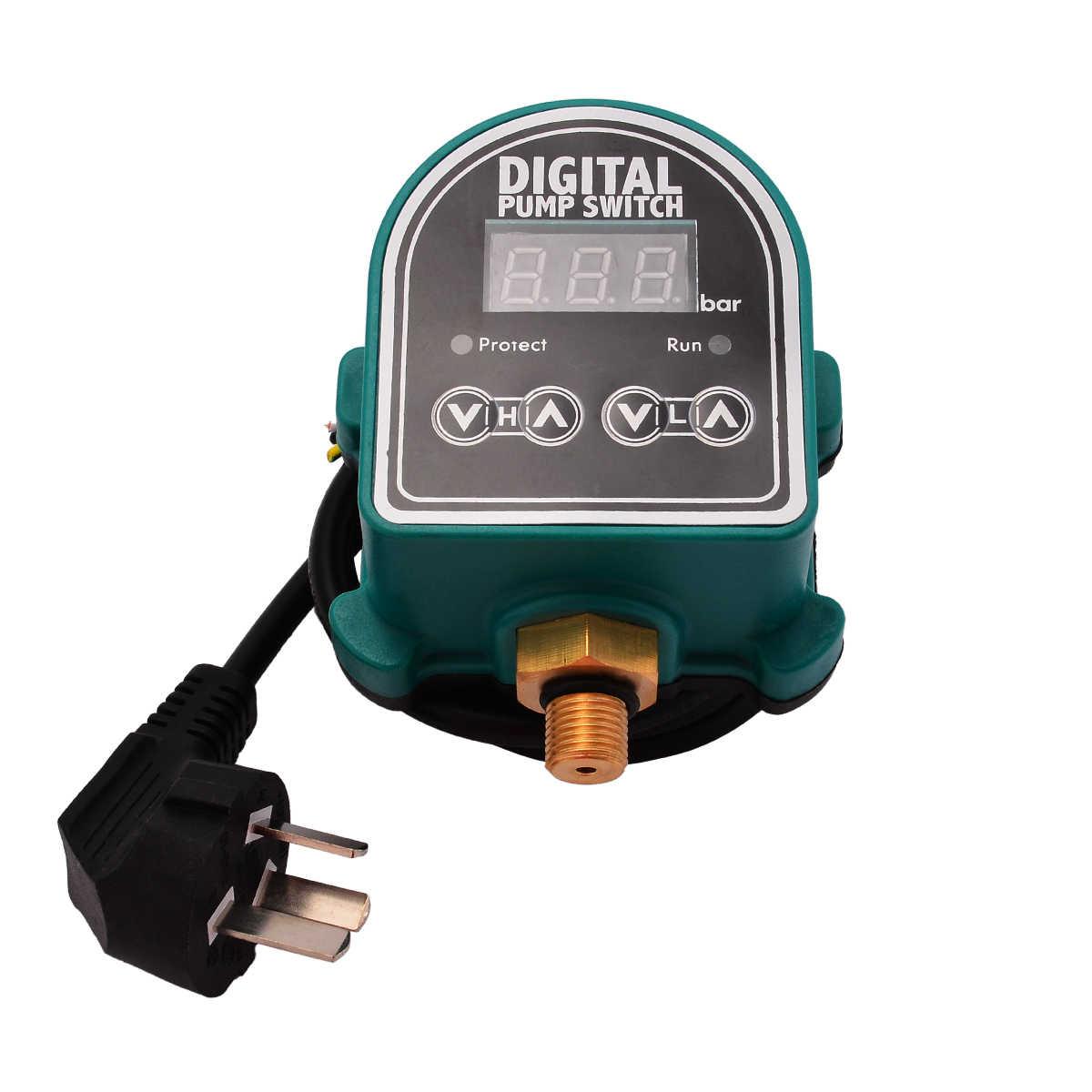 220V gospodarstw domowych maszyn cyfrowy przełącznik ciśnieniowy cyfrowy wyświetlacz Eletronic regulator ciśnienia do wody akcesoria do pomp