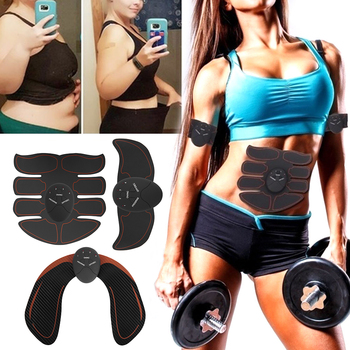 Muscle Stimulator Trainer Smart Fitness Abdominal Training Device Electric Body Weight Loss Slimming Muscle Fat Burning Device ems wireless muscle stimulator smart fitness abdominal training electric weight loss stickers body slimming belt unisex