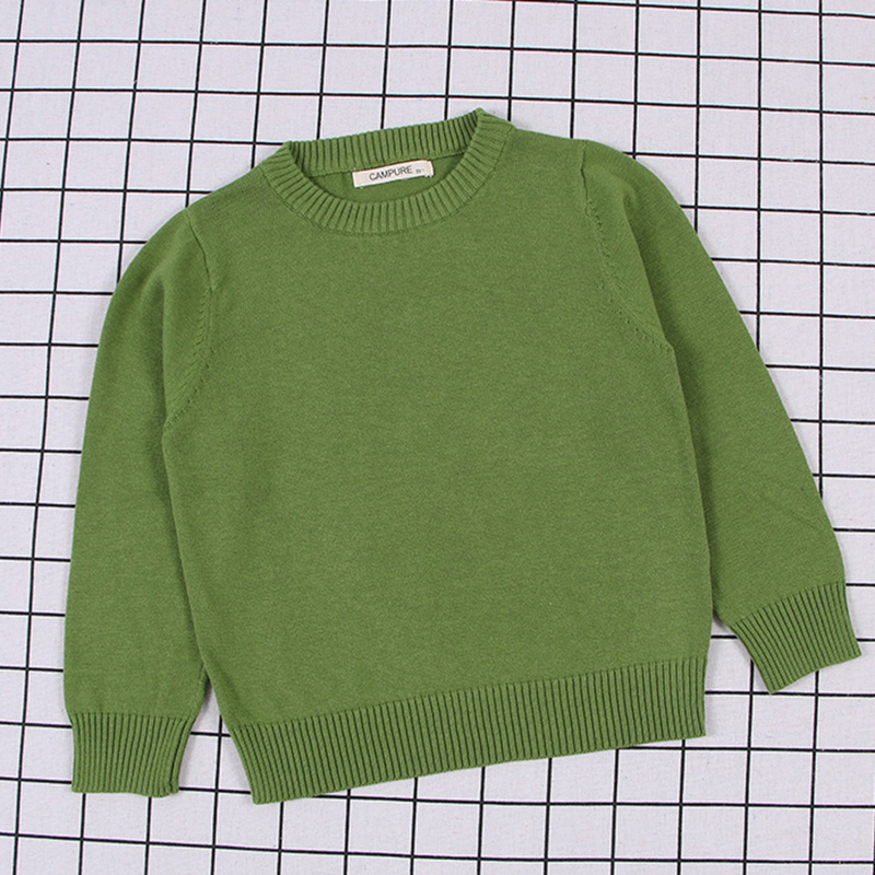 2020 New Spring Kids Pullovers Tops Baby Boys Girls Pure Color Sweaters Autumn Kids Sweaters Knitted Bottoming Boys Sweaters 6