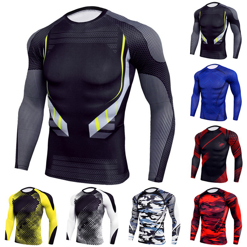 Sport Suit Outdoor Cycling Sports Suit Quick-drying Breathable Tights Sweat-absorbent Wet Long-sleeved Trousers Suit Stretch Gym